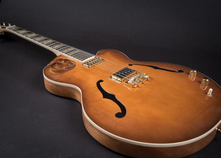 Custom scroll guitar